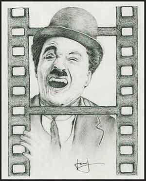 Charlie Chaplin by portraitemoi